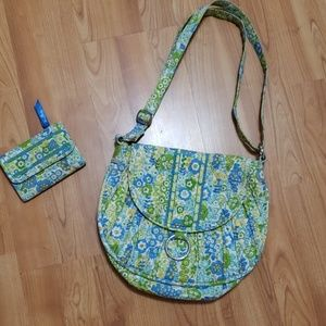 Vera Bradley Shoulder Bag and Matching Wallet